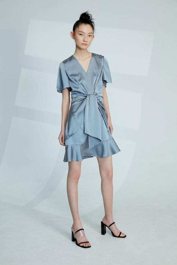 Blue Deconstructed Dress - BLANCORE
