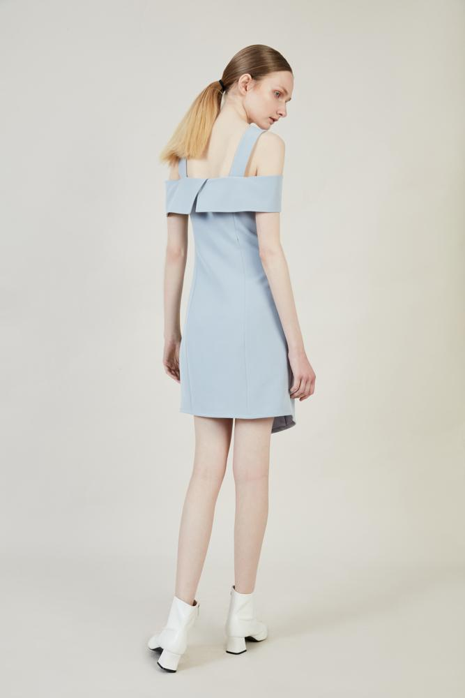 Blue Dress With Detachable Bottom - BLANCORE