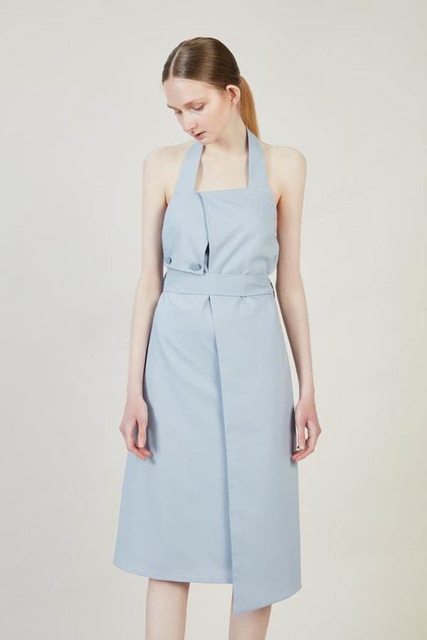 Blue Frilled Dress - BLANCORE