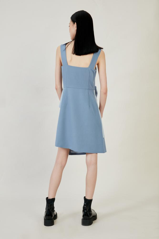 Color Block Slip Dress - BLANCORE