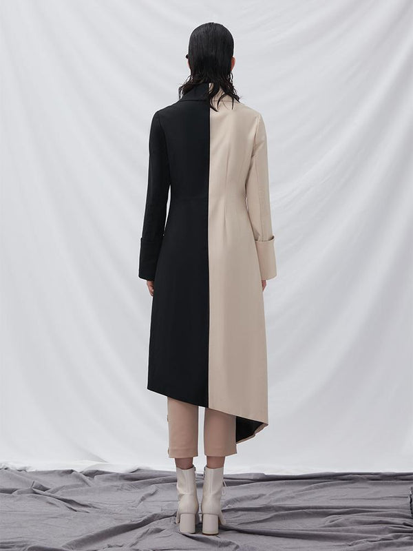Color Block Trench Coat - BLANCORE