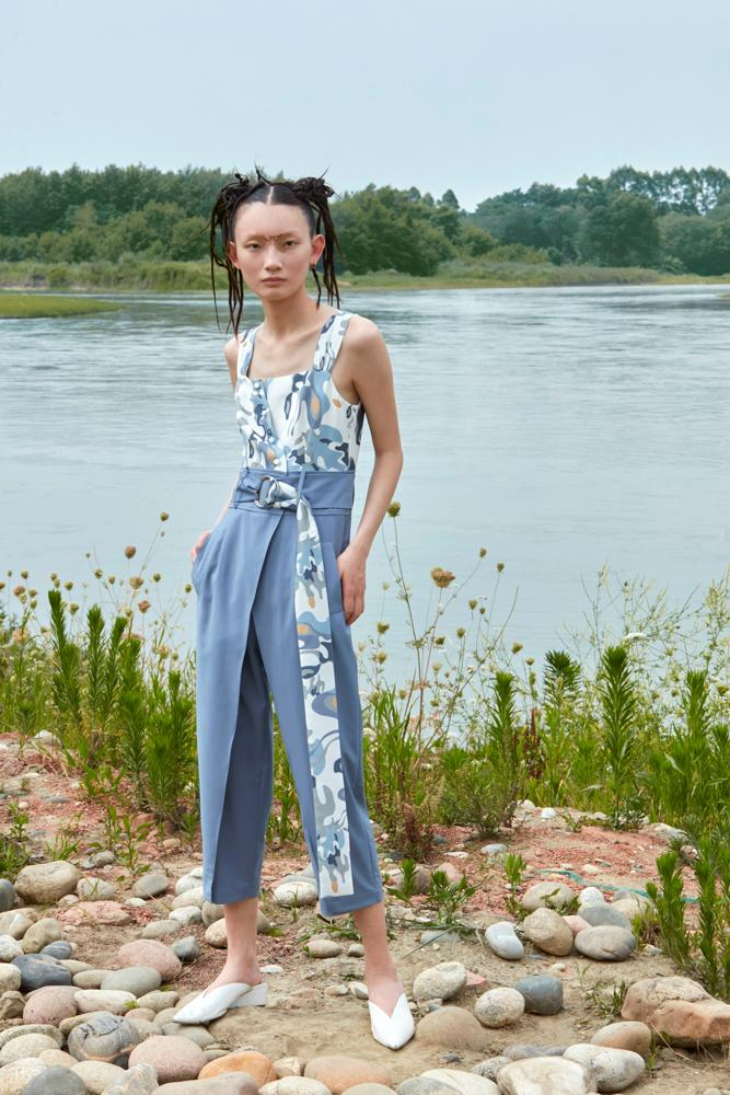 COLOR PRINT JUMPSUIT - BLANCORE