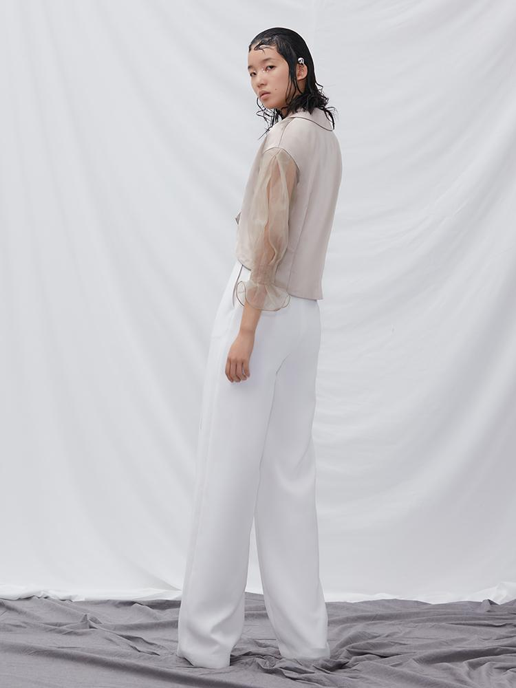 Culottes with Button Detail - BLANCORE