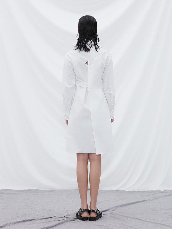 Deconstructed Shirt Dress - BLANCORE
