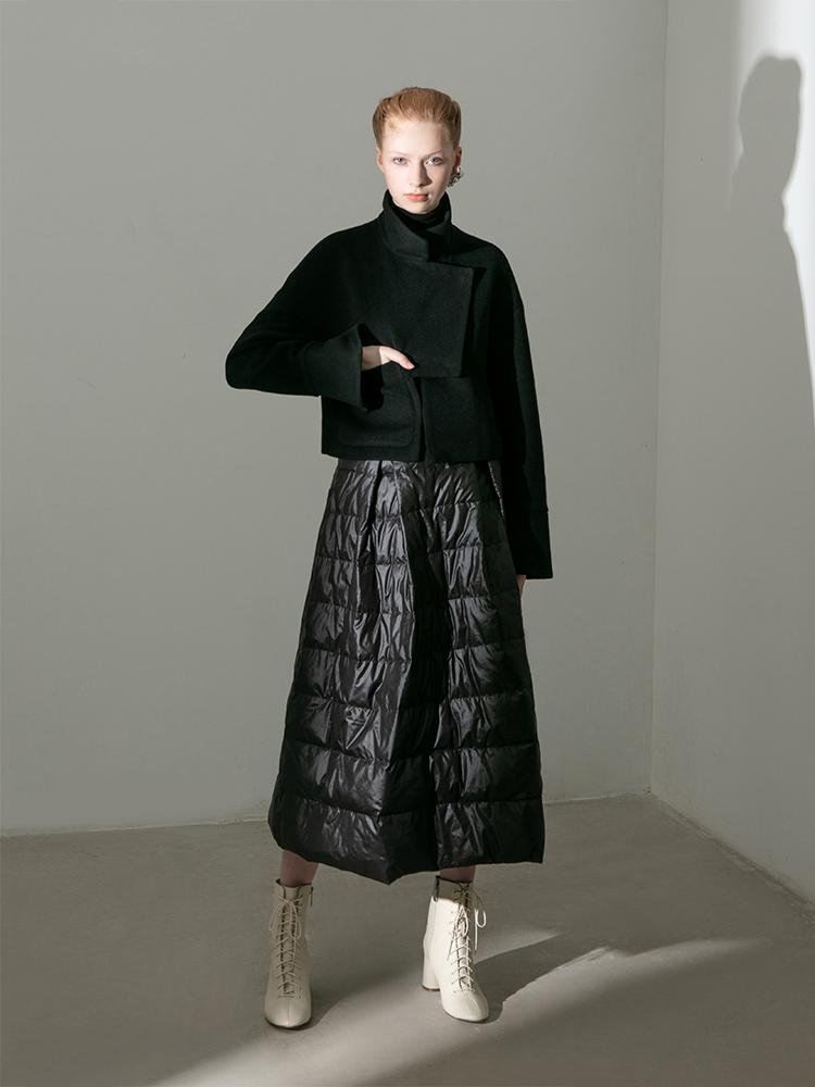 Geometric Wool Jacket - BLANCORE