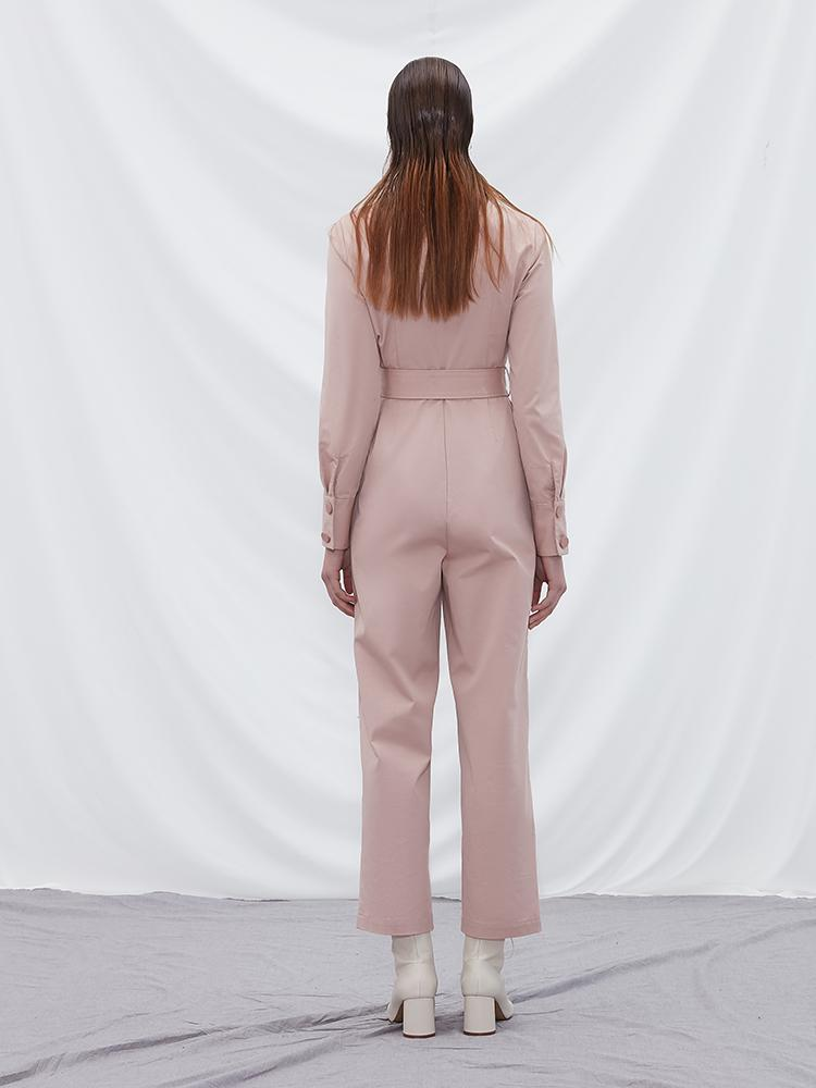 Jumpsuit with Fold Detail - BLANCORE