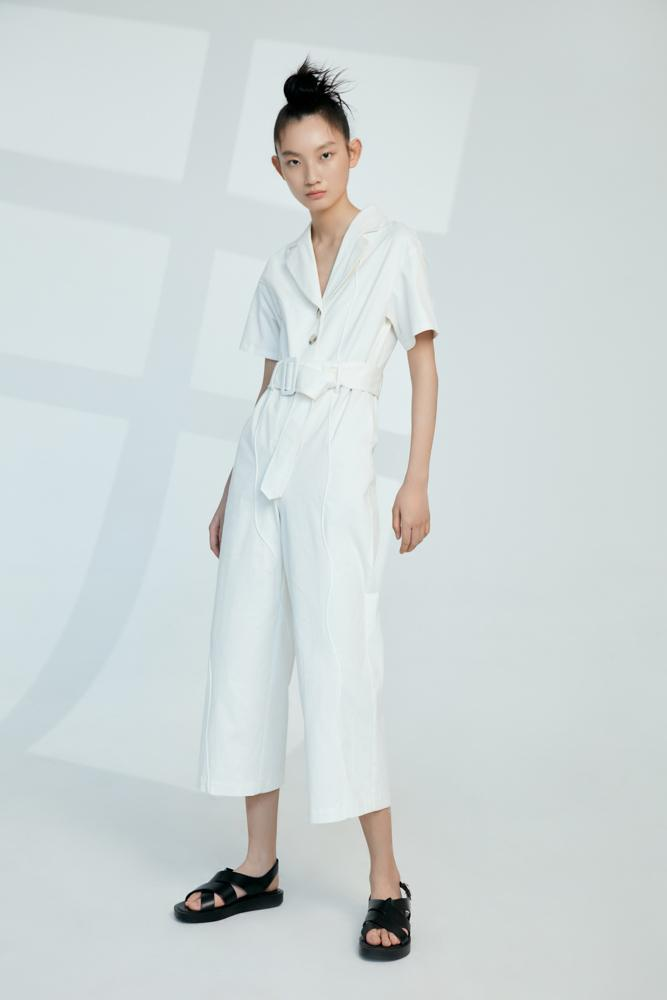 Jumpsuit with Topstitch Seam - BLANCORE