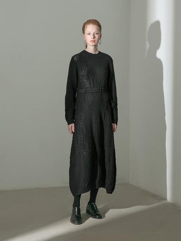 Knit Wool Dress - BLANCORE