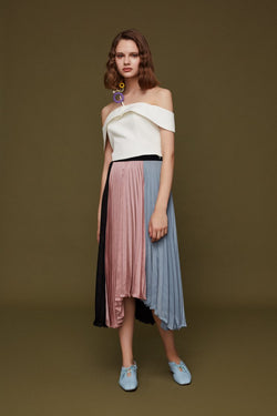 Lapel Cropped Top - BLANCORE