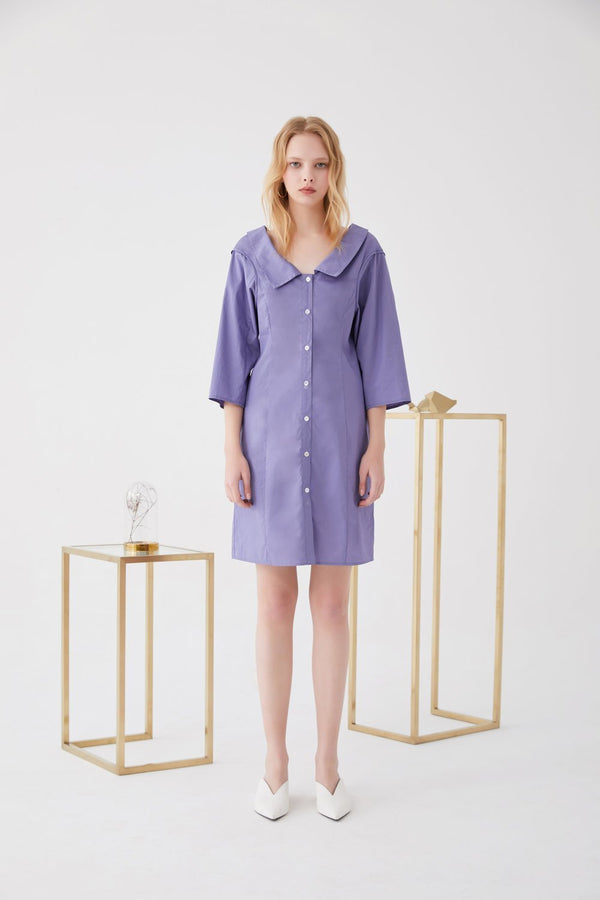 Lapel Shirtdress with Detailed Armhole - BLANCORE