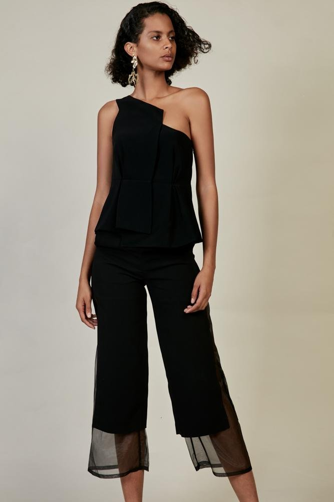 One Shoulder Waisted Top - BLANCORE