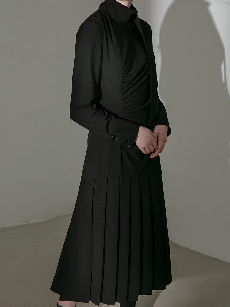 Pleated Panel Dress - BLANCORE