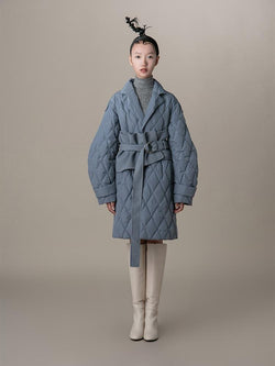 "Puffer Coat With Detachable ""Corset"" Belt - BLANCORE"