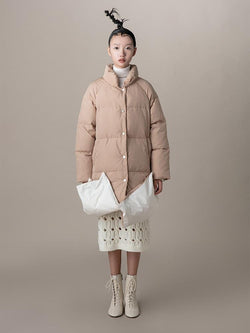 Puffer Coat With Fold Detail - BLANCORE