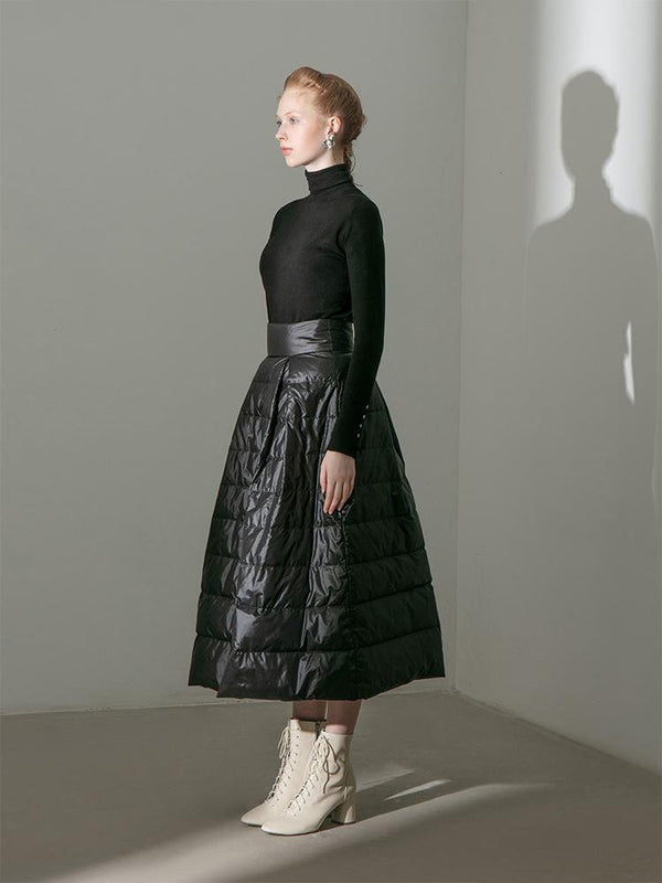 Quilted Puffer Skirt - BLANCORE
