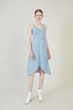 Ruched Slip Dress - BLANCORE