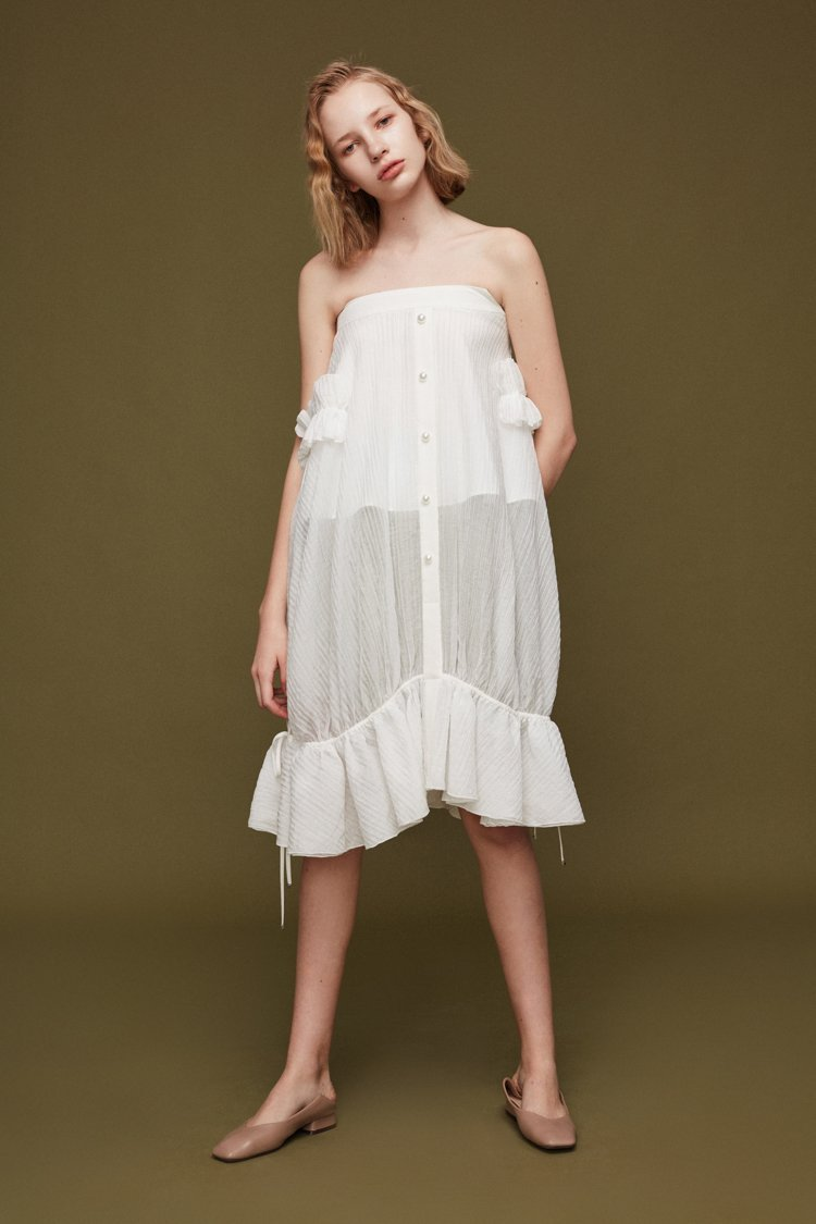 Ruffle Skirt with Tie - BLANCORE