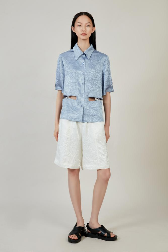 Shorts with Belt - BLANCORE
