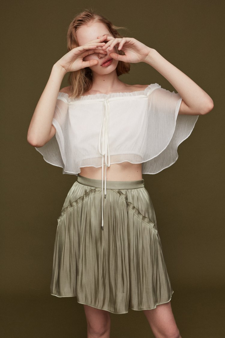 Shorts with Frilled Details - BLANCORE