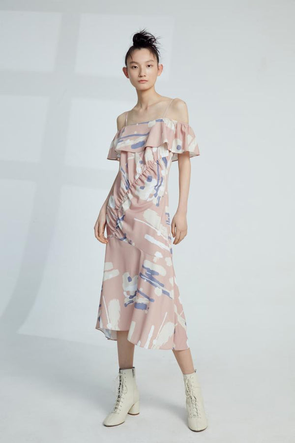 Slip Dress With Print - BLANCORE