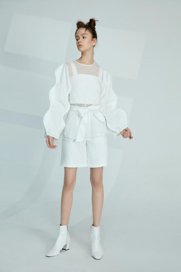 Top With Curve Sleeve - BLANCORE