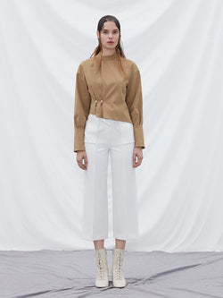 Trouser with Fold Detail - BLANCORE