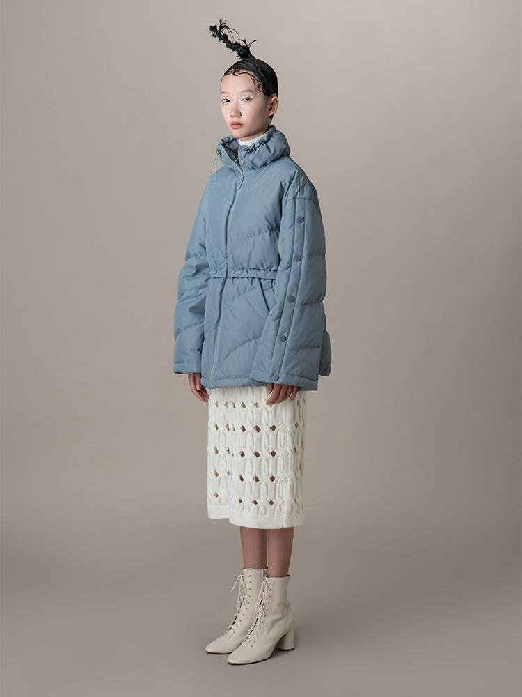 Waisted Puff Jacket - BLANCORE