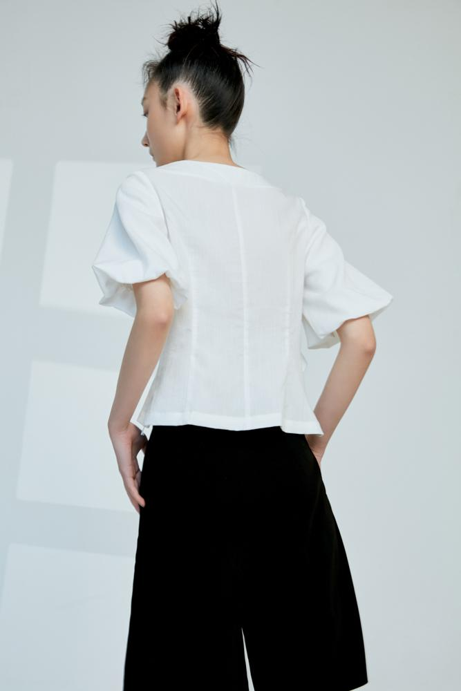 White Ruffle Top - BLANCORE