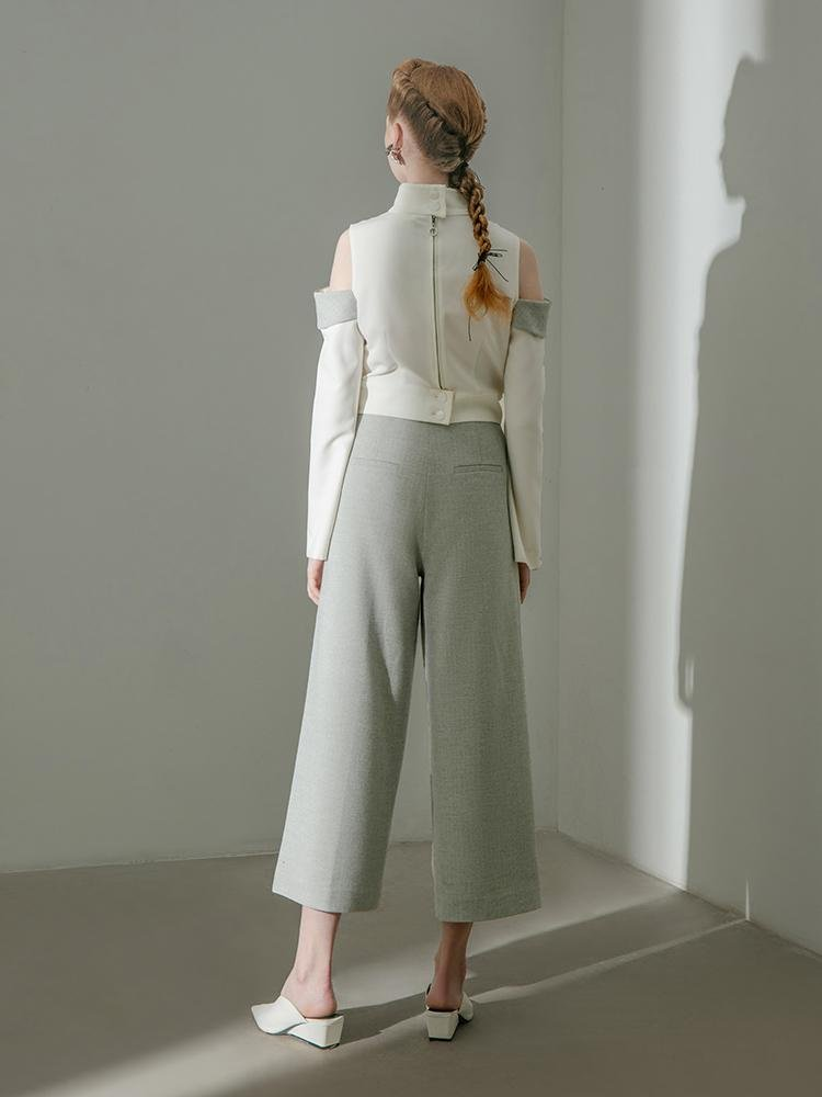 Wool Blend Culottes - BLANCORE