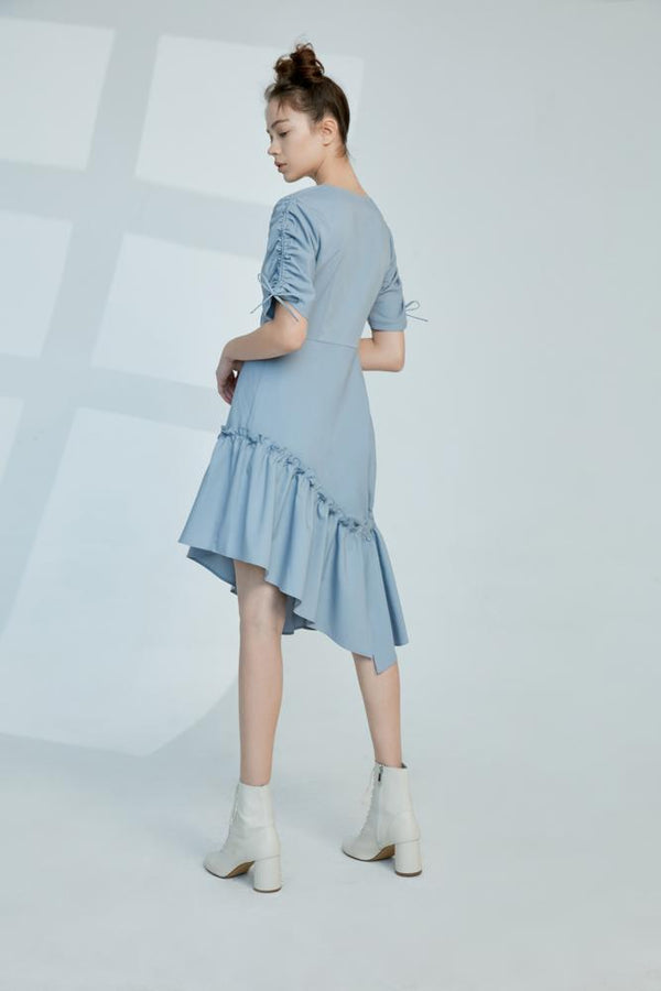 Wrap Frilled Dress - BLANCORE