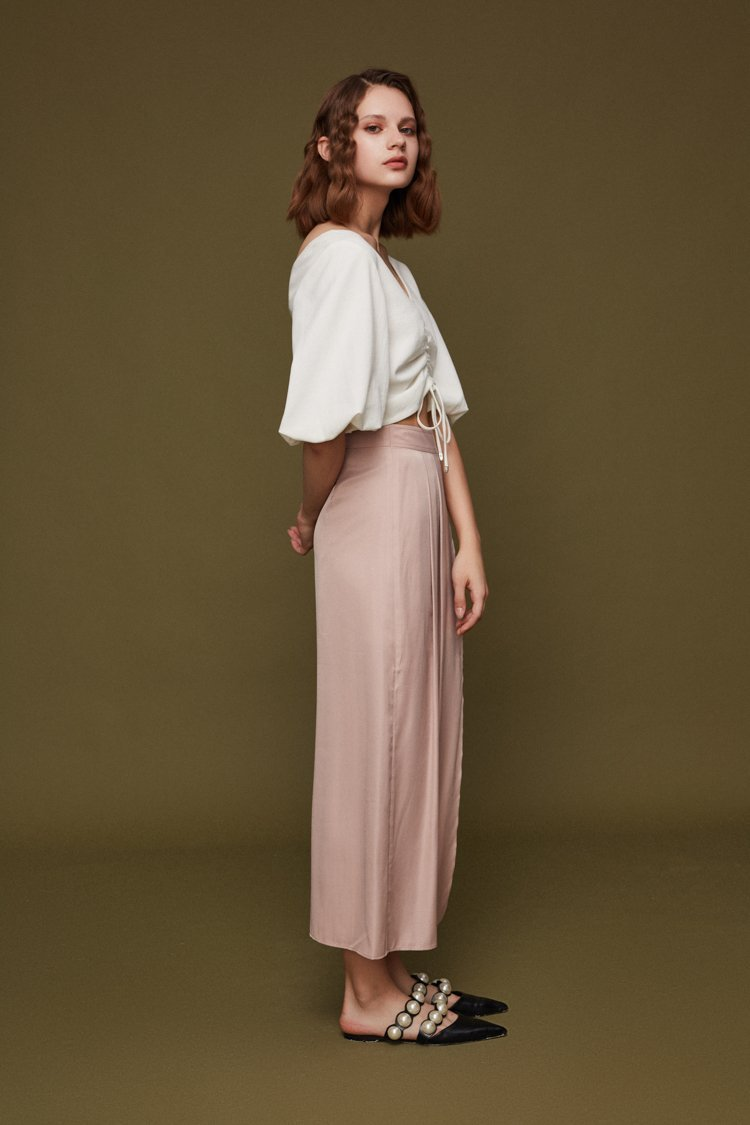 Wrap Skirt with Belt - BLANCORE