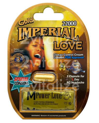 Imperial Love 22000 Gold W/ Condom
