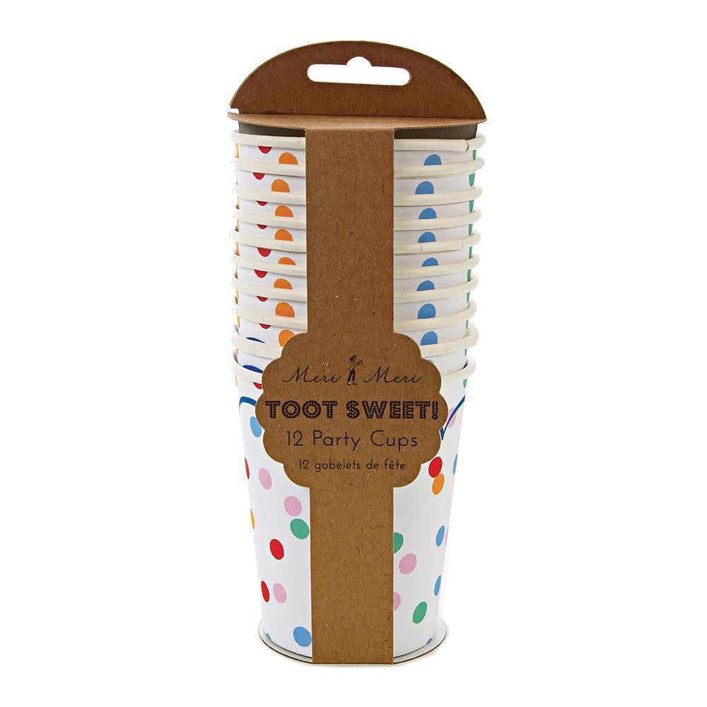Toot Sweet Spotty Party Cups