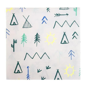 Waterlemon Kids, MERI MERI, Let's Explore Large Napkin, Napkin, Party, Tableware