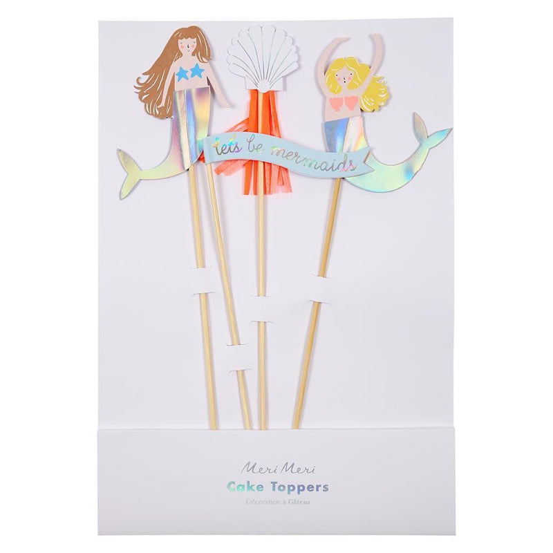 Let's Be Mermaids Cake Toppers - Waterlemon Kids - Cake Topper