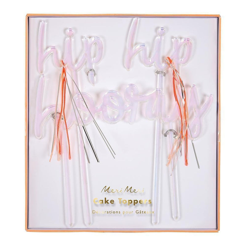 Waterlemon Kids - Hip Hip Hooray Cake Toppers - Cake Topper