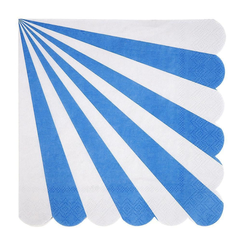 Waterlemon Kids - Blue Striped Large Napkin - Napkin