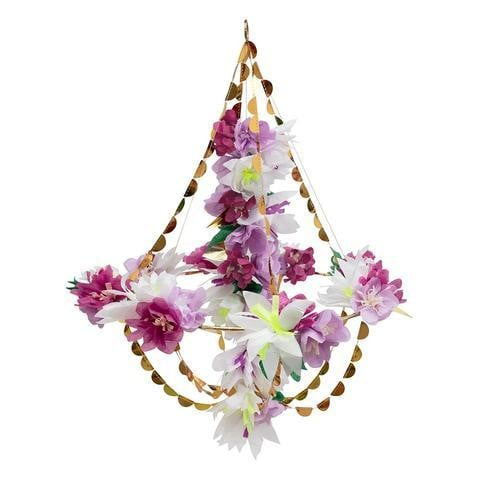 Lilac Blossom Paper Chandelier