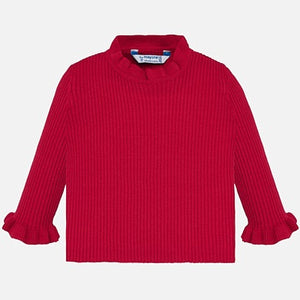 High Neck Long Sleeve- Red