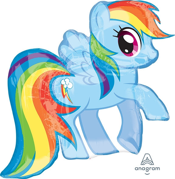 "Waterlemon Kids, BR BALLOONS, Helium Foil Balloon- 28"" My Little Pony Rainbow Dash, Balloon, Balloons, helium-filled"
