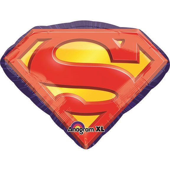"Waterlemon Kids, BR BALLOONS, Helium Foil Balloon- 26"" Superman Logo, Balloon, Balloons, helium-filled, superhero"