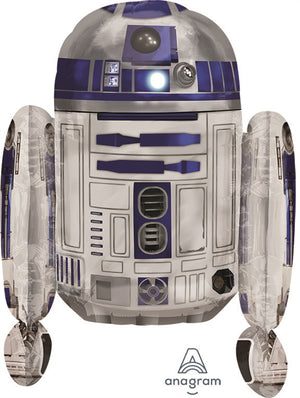 "Waterlemon Kids, BR BALLOONS, Helium Foil Balloon- 26"" R2D2 STAR WARS, Balloon, Balloons, helium-filled"