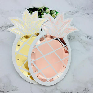 Pineapple Plates- Gold