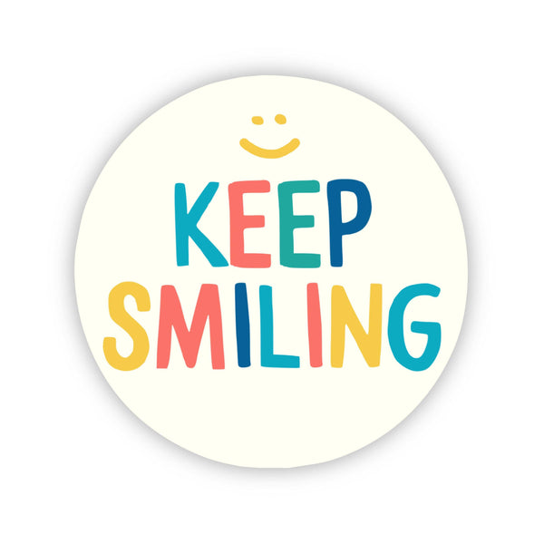 Keep Smiling Happy Face Sticker