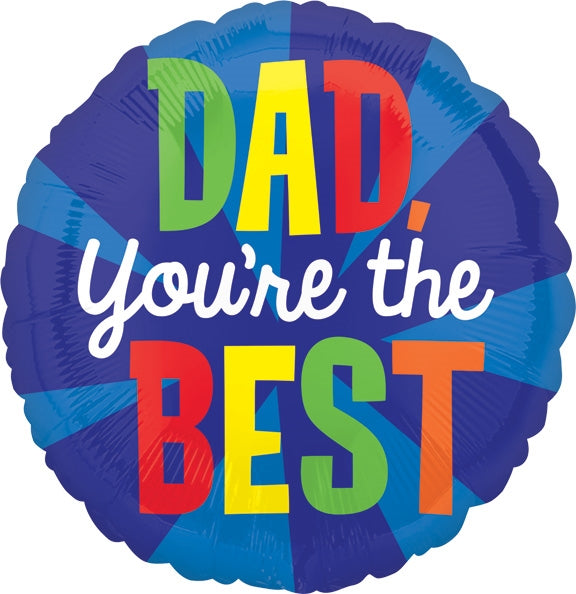 "Helium Foil Balloon- 18"" Dad You're The Best"