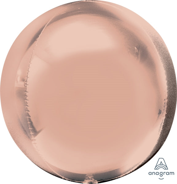 "Helium Foil Balloon- 21"" Rose Gold Orbz"