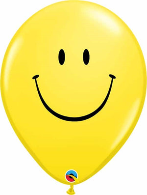 "Helium Latex Balloon- 16"" Yellow Smiley Face"