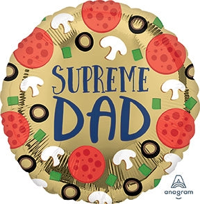 "Helium Foil Balloon- 18"" Supreme Dad"