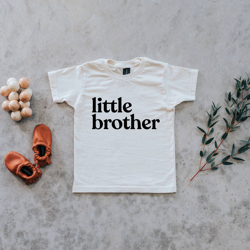 Cream Little Brother Organic Kids Tee