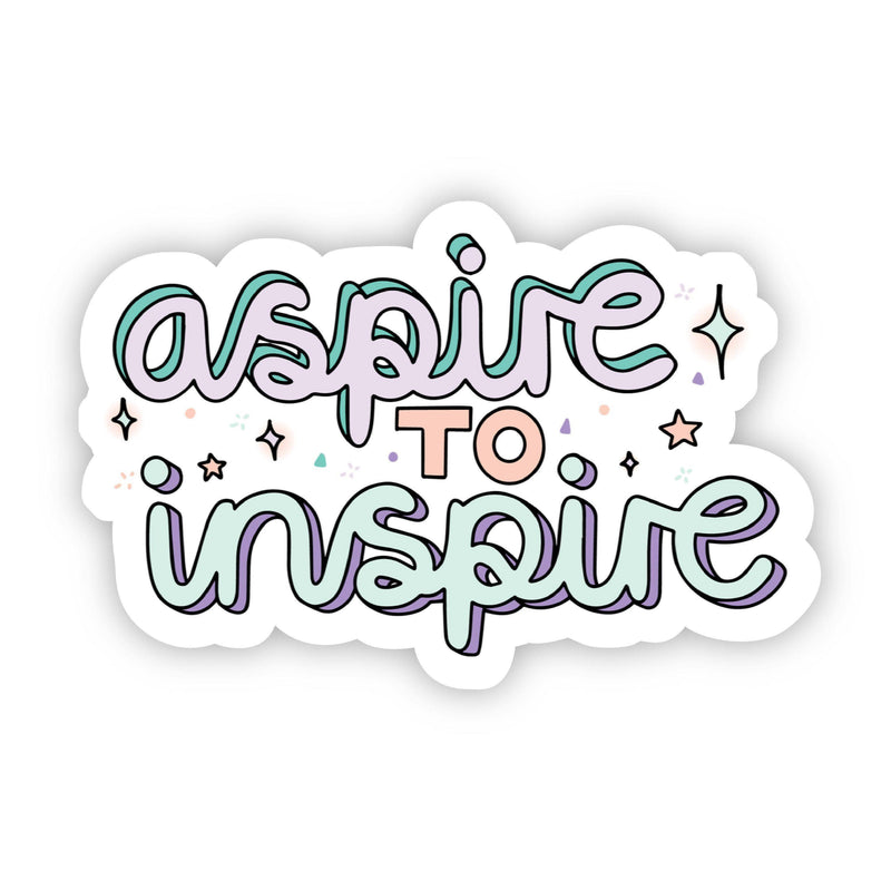 Aspire To Inspire Stars and Glitter Sticker